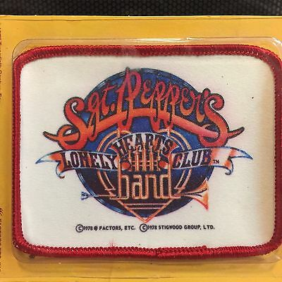1978 Beatles Sgt Pepper's Lonely Hearts Club Band Movie Sew On Patch New On Card