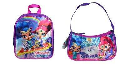 Shimmer and Shine Girls 16 inch School Backpack with Lunch Bag