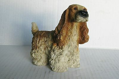 Cocker Spaniel Hand Painted Collectible Dog Figurine Statue blonde