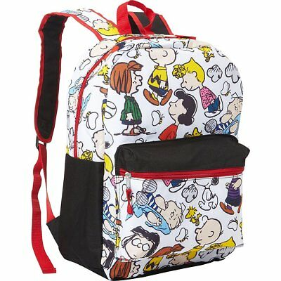 """Peanuts Snoopy Snoopy 16"""" Allover Print Backpack (White)"""