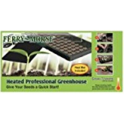 Ferry-Morse Seed Company KHEATGHS Heated Greenhouse Mat with Clear DomeLid,Black