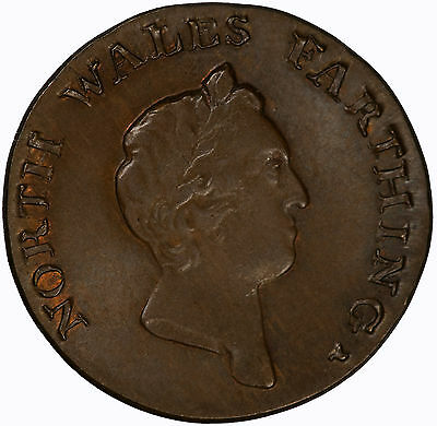 Great Britain (North Wales) 1793 Farthing CHOICE R+B UNC