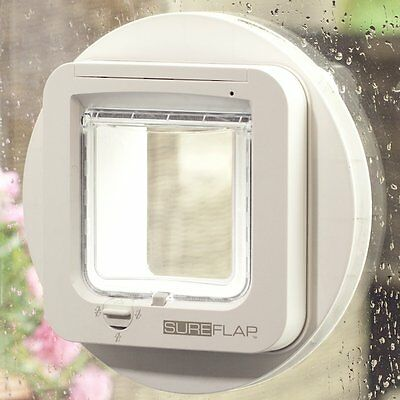 New Sureflap Microchip Cat Flap White Pet ID Scan Home Security Lock Door Tunnel