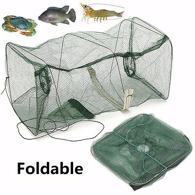 Fishing Bait Trap Fish Net Cast Dip Cage Crab Crawdad Shrimp Crayfish Foldable