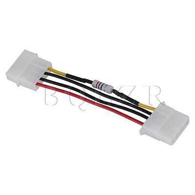5pcs PC PWM Fan Speed Noise Reduce 4 Pins 4Wires Resistor Cable D Type