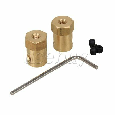 2pcs Brass Shaft Coupling Coupler DC Motor Connector Robot DIY Accessories 4mm