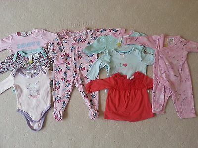 Pre-loved Baby Girl Winter Bundle, Size 000, 8 items in good used condition!