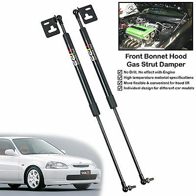 Front Hood Gas Shock Strut Damper Lift Support Fits Honda Civic EK4 EK9 1996-00