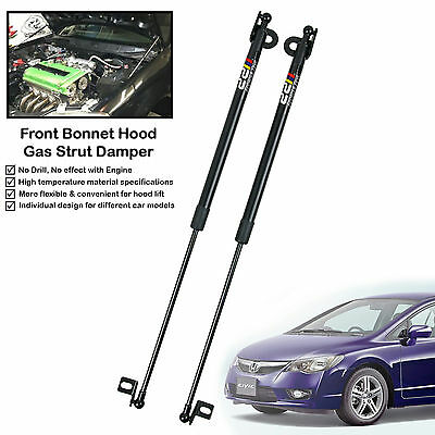Front Hood Gas Shock Strut Damper Lift Support Fits Honda Civic FD1 FD2 2006-11