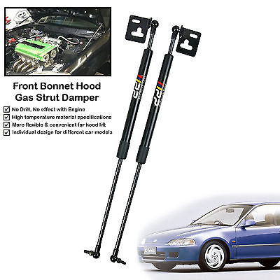 Front Hood Gas Shock Strut Damper Lift Support Fits Honda Civic EG6 EG9 1992-95