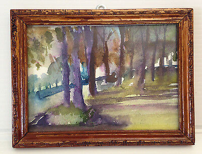 Lot of 3 ORIGINAL Landscape WATERCOLOR Paintings with frame