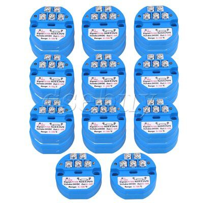 20pcs PT100 Temperature Sensors Transmitter 0-100 Degree Output 0-10V Blue