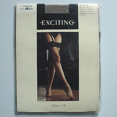 Stockings. Bas voile ultra-fin EXCITING coloris Expresso. Taille 4.