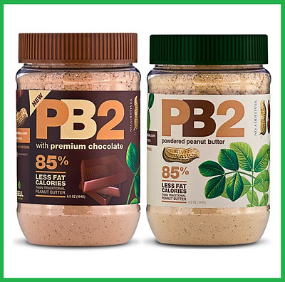 2x PB2 COMBO Chocolate + Vanilla TWIN PACK Natural Powdered Peanut Butter 184g
