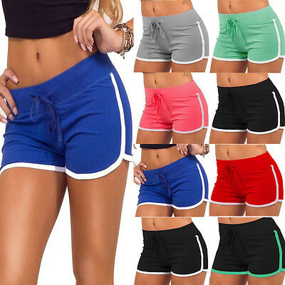Summer Pants Women Sports Shorts Gym Workout Waistband Skinny Fitness Yoga Short
