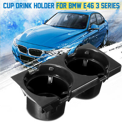 Front Center Console Cup/drinks Holder Black For Bmw E46 3 Series 51168217953