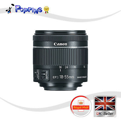 Genuine Canon EF-S 18-55mm f/3.5-5.6 IS STM Lens BLACK Not In Box
