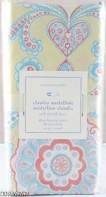 Pottery Barn Kids - Claudia Medallion Crib Fitted Sheet - NWT Yellow Aqua