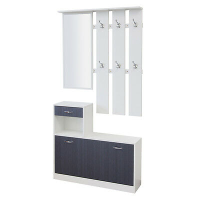garderobe garderoben set 3 teilig pisa weiss flurgarderobe schuhschrank eur 49 00 picclick de. Black Bedroom Furniture Sets. Home Design Ideas