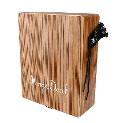 MagiDeal High Quality Birchwood Travel Cajon Hand Drum Boxing 290x233x98mm