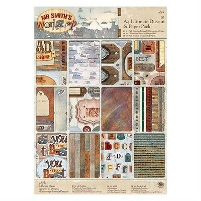 Docrafts Papermania Mr Smiths Workshop Ultimate A4 Die Cut & Paper Pack