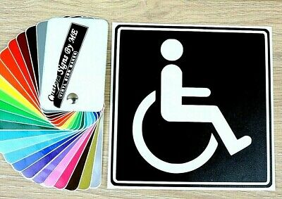DISABLED BADGE Car Sticker JDM Vinyl Decal Window Bumper Tailgate 140x140  BLACK