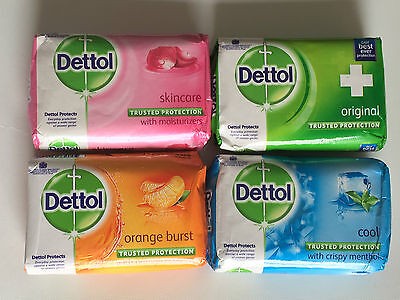 4 or 6 Bars - Dettol Body Bath 110g Soap - Everyday Protection Against Germs