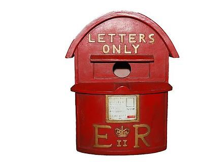 British English Style Vintage Retro Letter Post Mail Box Postbox Style Birdhouse