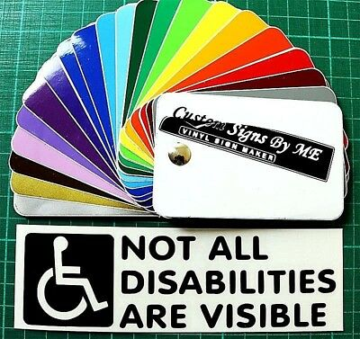 Disabled Badge Car Sticker JDM Vinyl Decal Window Bumper Tailgate #2 Black