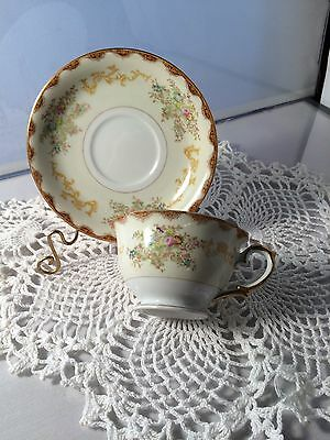 Meito China Dalton Pattern Cup With Saucers (11)  (P1590L)