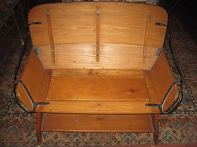 Antique Bench Hall Seat Wood&Iron Buggy/Stagecoach