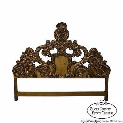 Vintage Carved Rococo Gold King Size Headboard circa 1960s