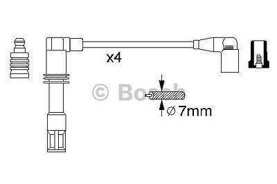 0986356308 Bosch Ht Ignition Cables B308 [Copper Set] New Spark Leads