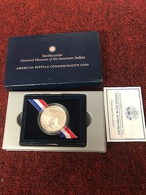 2001-D Uncirculated Buffalo Commemorative Silver Dollar in OGP w/COA