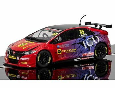 C3860 Scalextric Slot Rally Car BTCC Honda Civic Type R 2016 Jeff Smith New UK