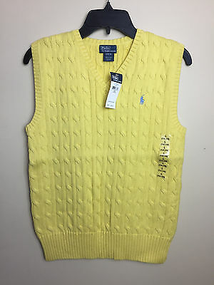 Polo Ralph Lauren Boys Cable Knit Sweater Vest Size L (14-16) - New w/tags