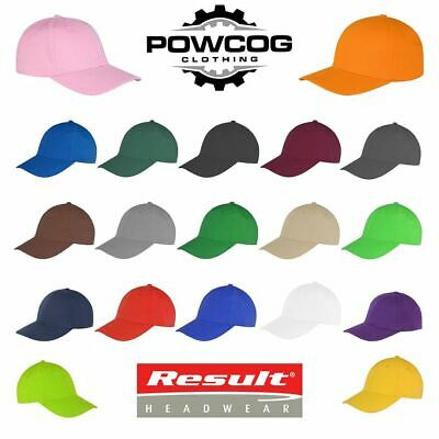 BC961 Result Unisex Low Profile Heavy Brushed Cotton Baseball Cap