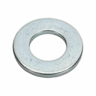 "Sealey Flat Washer 3/16"" x 7/16"" Table 3 Imperial Zinc BS 3410 Pack of 100"