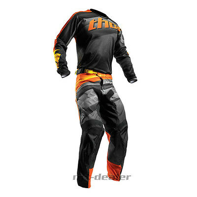 Thor Pulse Velow Orange Hose Jersey Trikot mx motocross Cross Combo Kombi