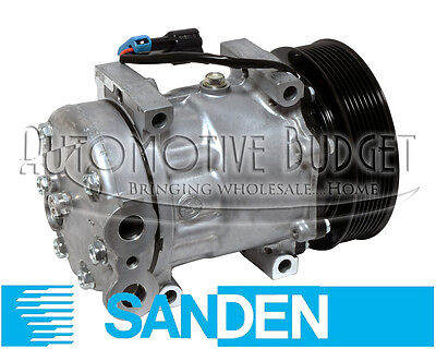 A/C Compressor w/Clutch for Sanden 4097, 4108, 4802 - NEW OEM