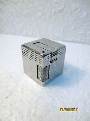 Briquet CUBE IPPAG DICE  Pointe de diamant chromé