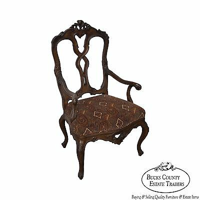 High Quality Carved Rococo Style Arm Chair