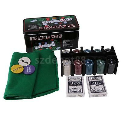 200pcs Poker Chips Set for Playing Casino Dice Texas Hold'em Games Favours