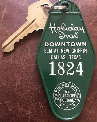 Vintage Holiday Inn Room Key Dallas, Texas Downtown Elm At New Griffin