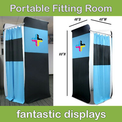 Custom Portable Pop Up Dressing Changing Fitting Room Printed Apparel Trade Show