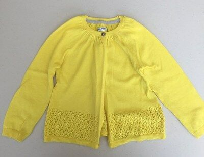 Mini Boden Button Front Cardigan Sweater Sz 2-3 years Yellow