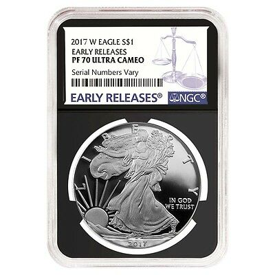 PRESALE - 2017-W 1 oz Proof Silver American Eagle NGC PF 70 UCAM Early Releases