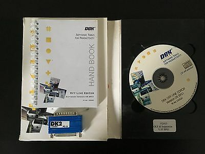 Dek Printer Off-Line Editor Version 05SP01 with License Dongle, Part# 152413