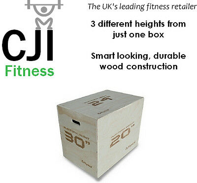 Physical Company 3-in-1 Wooden Plyo Box - Comes Flat Packed
