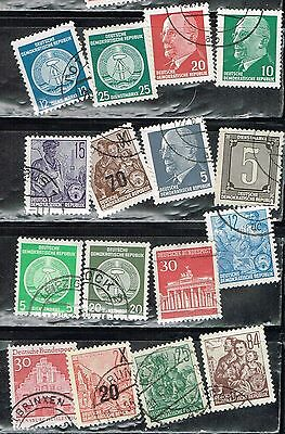 (12-988) 16 Assorted Cancelled  Postage sTamps from Germany